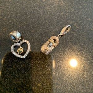 Jewelry - Sterling Silver/Diamond Charms